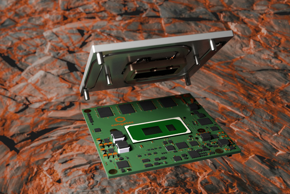 Super rugged latest 11th generation Intel® Core® Congatec module with onboard memory